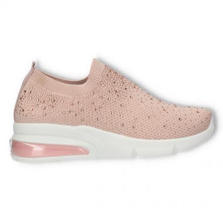 Sneakers roz, cu pietre, talpa groasa