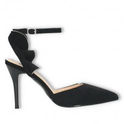 Pantofi de vara, negri, toc...
