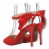 Pantofi de vara, rosii, toc stiletto