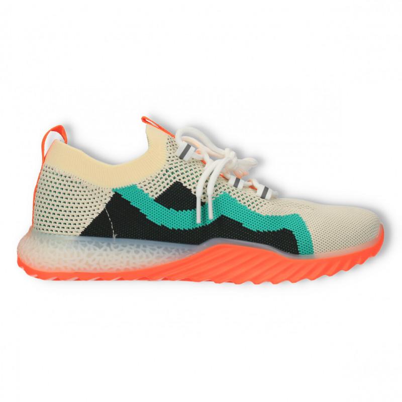 Sneakers dama, multicolori, orange