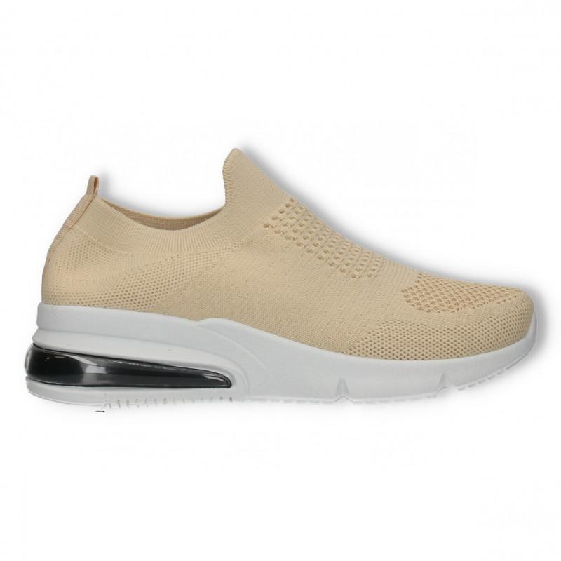 Sneakers ciorap, bej, pentru femei