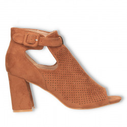 Sandale fashion, maro, cu...