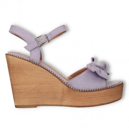 Sandale dama, talpa wenge, culoarea violet