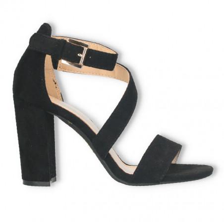 Sandale elegante, dama, negre