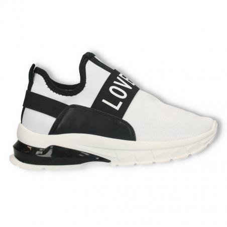 Sneakers albi, LOVE, pentru femei