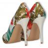 Pantofi stiletto, material floral