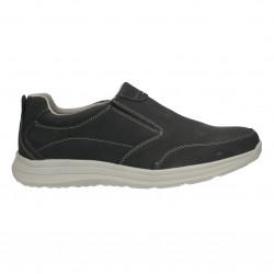 Pantofi barbatesti, fara siret, negru antic