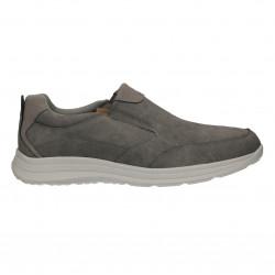 Pantofi barbati, fara siret, culoarea gri