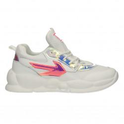 Sneakers urbane, albe, pentru femei
