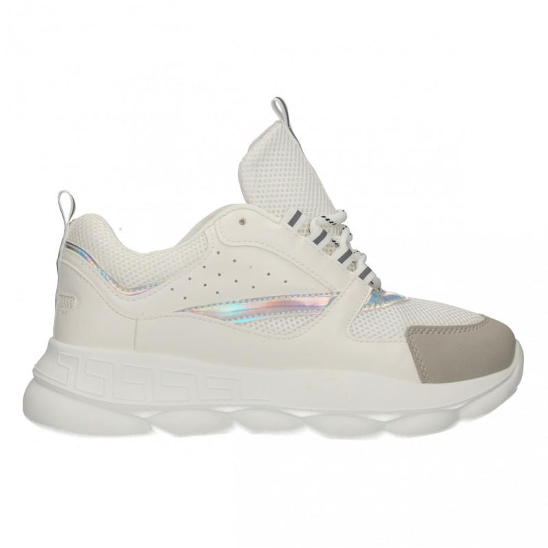 Sneakers urbani, dama, culoare alba