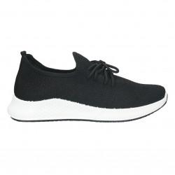 Pantofi sport, tip ciorap, culoare neagra