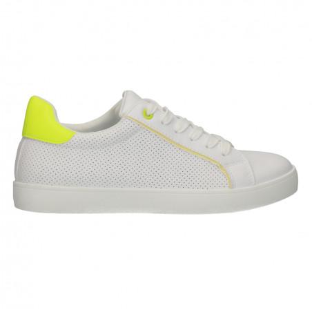 Sneakers albi, femei, cu perforatii mici
