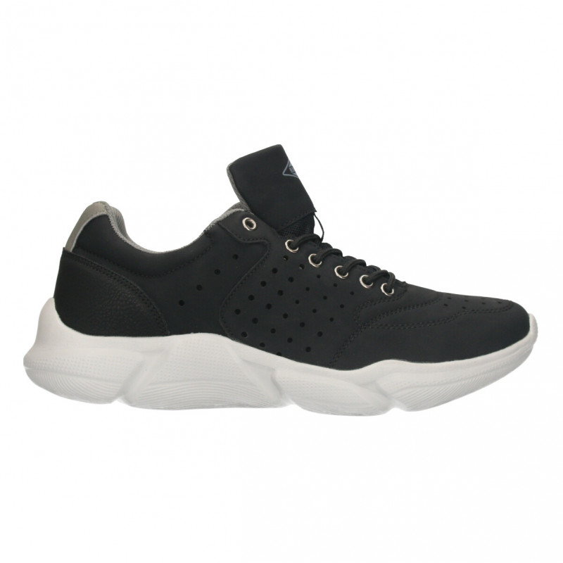 Sneakers negri, stil urban, pentru barbati
