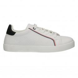 Sneakers albi, dama, cu perforatii