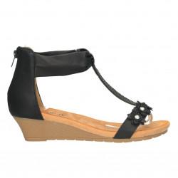Sandale comode, cu decor flori