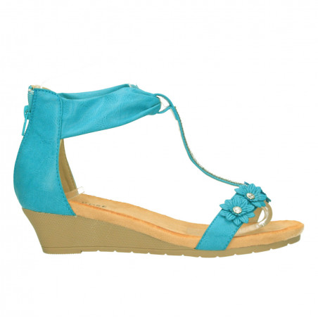 Sandale cu platforma mica, stil clasic