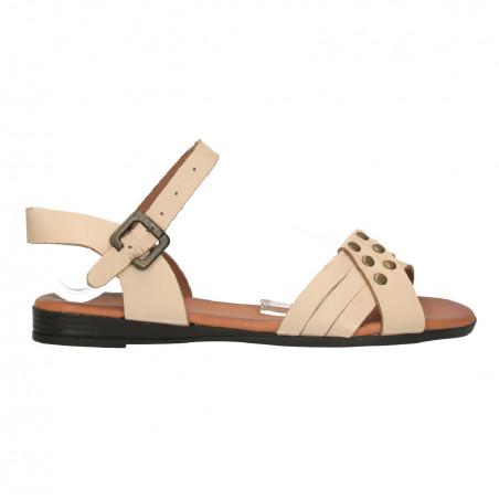Sandale albe in stil casual, pentru femei