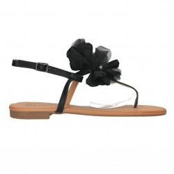 Sandale flip flops, cu floare mare