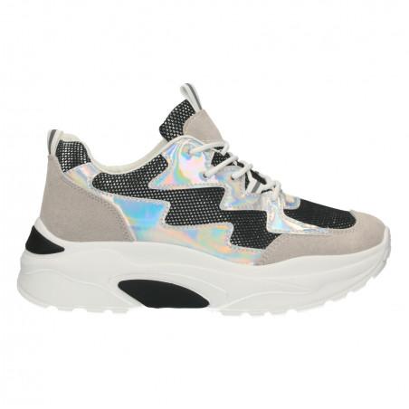 Sneakers dama, alb cu negru