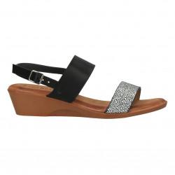 Sandale negre, glamour, model simplu