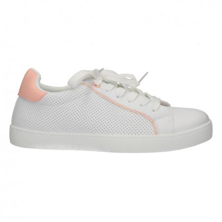 Sneakers dama, stil urban, culoarea alba