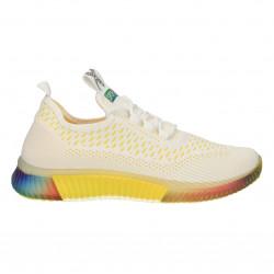Sneakers alb cu galben, slip on