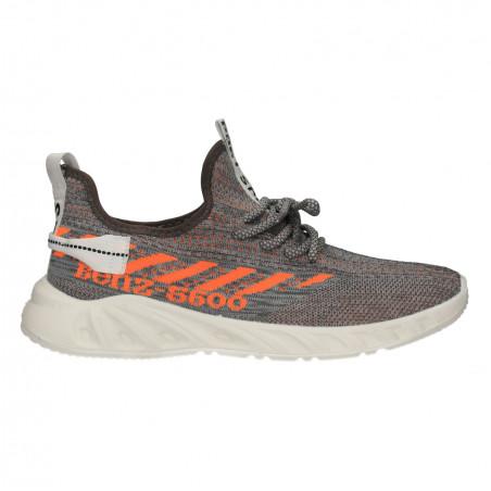 Sneakers barbati, gri, material tip tricot