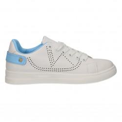 Sneakers albi, cu...