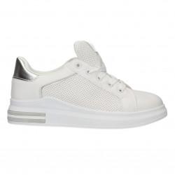 Sneakers femei, albi, in...