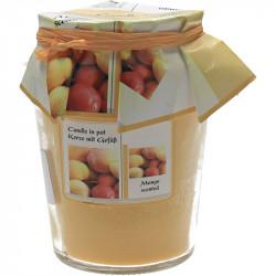 Lumanare borcan cu aroma de mango