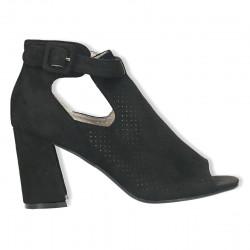 Sandale fashion, negre, cu perforatii