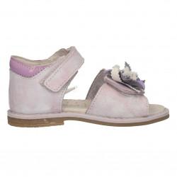 Sandale fete, piele naturala, culoare mov