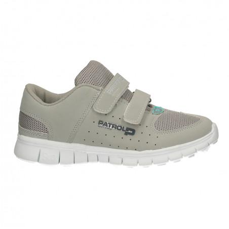 Pantofi sport fete, cu scai, gri