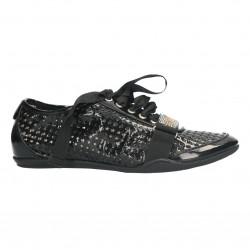 Pantofi snickers femei, perforati, negri