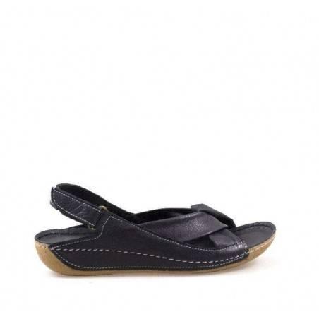 Sandale femei casual din piele naturala, culoarea neagra