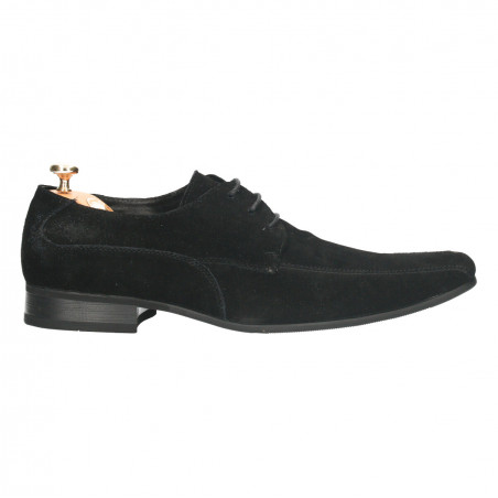 Pantofi de gala, din piele velur, pentru barbati