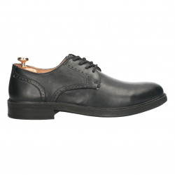 Pantofi barbatesti, negri, piele sintetica