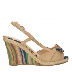 Sandale bej, cu platforma...