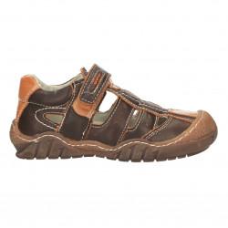 Sandale baieti, maro, din...