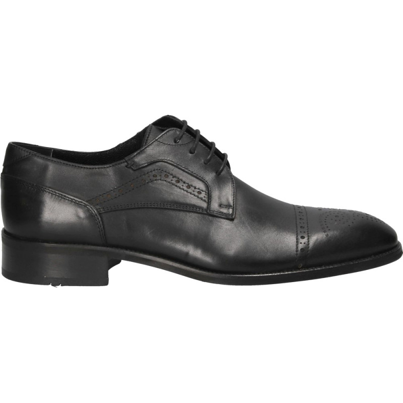 Pantofi office barbatesti, negri, din piele