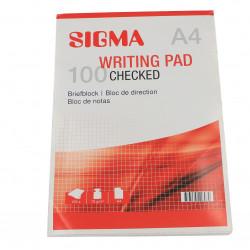Bloc Notes cu patrate, A4, 100 file, lipite, SIGMA