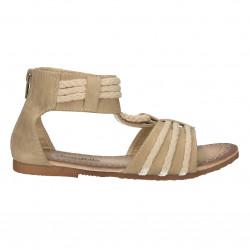 Sandale bej, cu snur, pentru fete