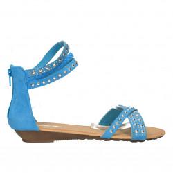 Sandale femei, pe glezna, turcoaz