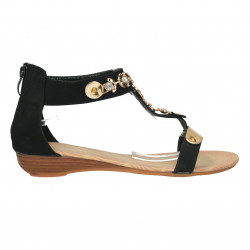 Sandale pe glezna, negre,...
