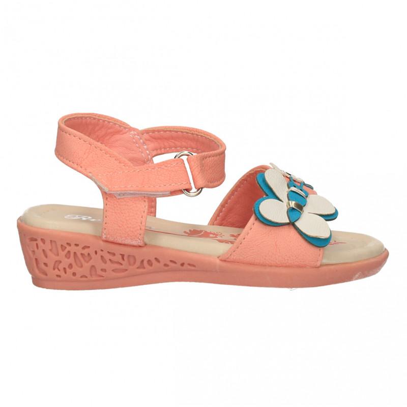 Sandalute roz, decor fluture, fete