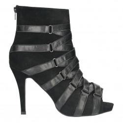 Sandale tip gheata, fashion, toc inalt