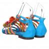 Sandale fara toc, culori pastelate