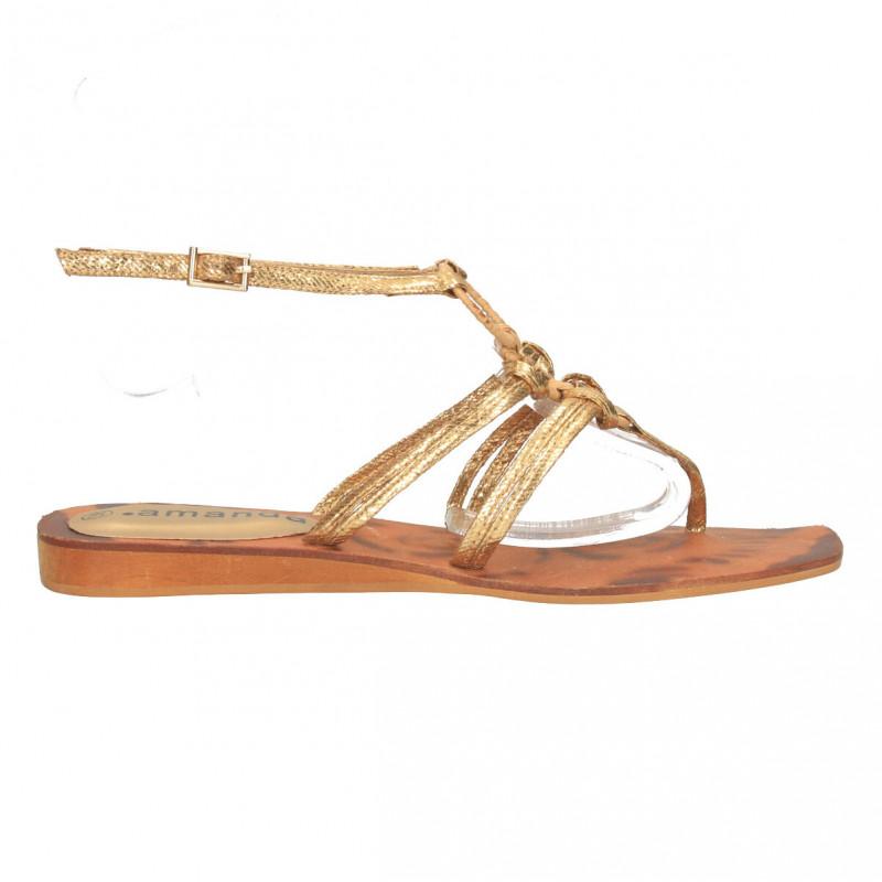 Sandale aurii, cu cerc, stil glami