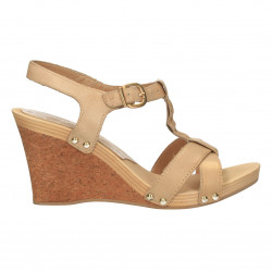 Sandale din piele naturala, culoarea bej