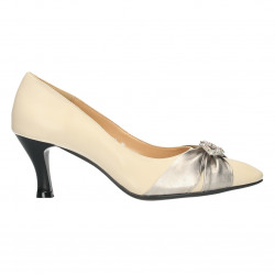 Pantofi eleganti, bej, stil vintage